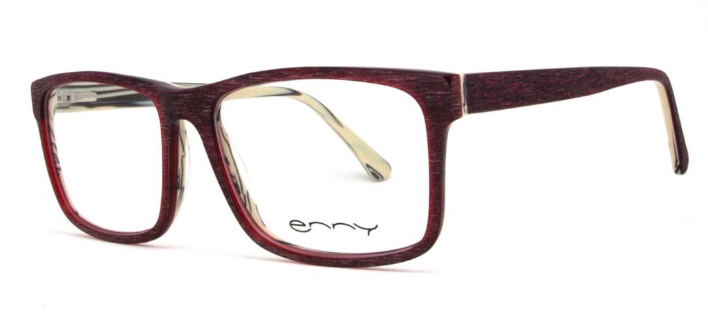 Herrenbrille Brando weinrot